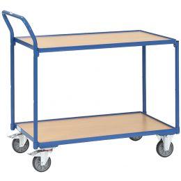fetra Tischwagen, 2 Etagen, 300 kg, (B)1.000 x (T)600 mm