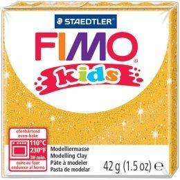 FIMO kids Modelliermasse, ofenhärtend, glitter-silber, 42 g