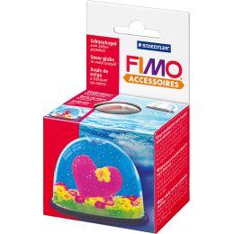 FIMO Schneekugel, oval, Maße: (B)70 x (T)52 x (H)55 mm