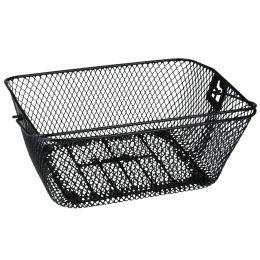 FISCHER Fahrrad-Korb für den Gepäckträger, schwarz