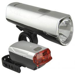 FISCHER Fahrrad LED-Beleuchtungs-Set 20/10 Lux