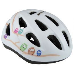 FISCHER Kinder-Fahrrad-Helm Eule, Größe: S/M