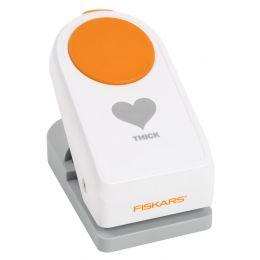 FISKARS Motivlocher Power Punch M Pfeil, weiß / orange
