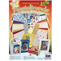 folia Bastelpapier-Set Weihnachtliche Basteltrends