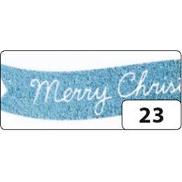 folia Deko-Klebeband Washi-Tape Hotfoil Eisblau Christmas