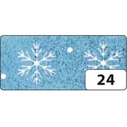 folia Deko-Klebeband Washi-Tape Hotfoil Eisblau Schneeflocke