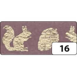 folia Deko-Klebeband Washi-Tape Hotfoil Gold Eichhörnchen