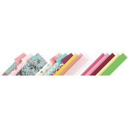 folia Faltpapierstreifen Romantik, farbig sortiert