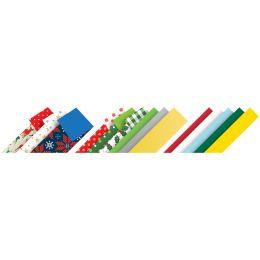 folia Faltpapierstreifen X-Mas, farbig sortiert