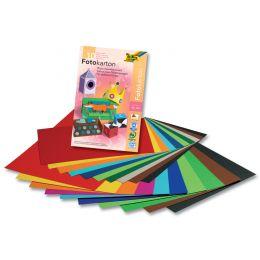 folia Fotokartonblock, DIN A3, farbig sortiert