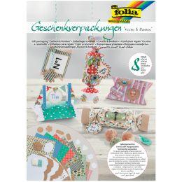 folia Geschenk-Schachtel-Set Kissen & Bonbons