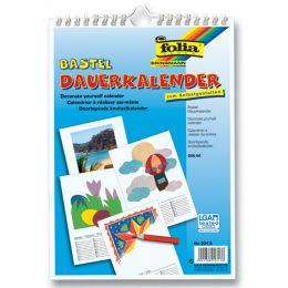 folia Kreativ-Wandkalender, DIN A4, weiß