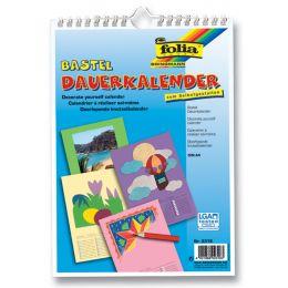 folia Kreativ-Wandkalender, DIN A4, farbig