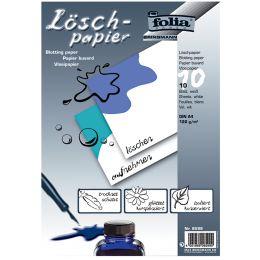 folia Löschpapier-Block, DIN A4, 120 g/qm, weiß