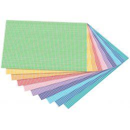 folia Motivkarton Karos klein, 500 x 700 mm, 300 g/qm