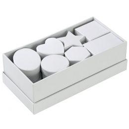 folia Pappschachteln, Karton, 15-teilig, weiß