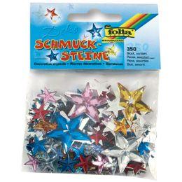 folia Schmucksteine Sterne, Größen und Farben sortiert