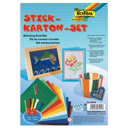 folia Stickkarton-Set, 175 x 245 mm, 300 g/qm, 25-teilig