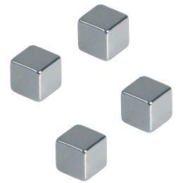 FRANKEN Neodym-Magnetwürfel, Maße: 10 x 10 x 10 mm, chrom