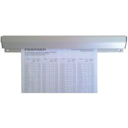 FRANKEN Papierklemmschiene, Aluminium, Länge: 310 mm