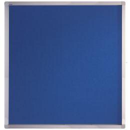 FRANKEN Schaukasten ECO für 12x DIN A4, Filz-Rückwand, blau