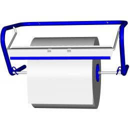 Fripa Putzrollen-Wandgerät, aus Metall, blau