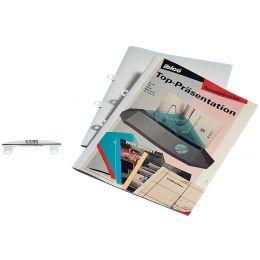 GBC Abheftzunge für Thermobindemappen, aus PVC, weiß