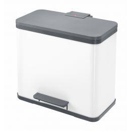 Hailo Tret-Abfalltrenner ProfiLine Solid Öko Duo L, weiß