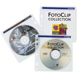hama CD-/DVD-Hülle, für 2 CDs/DVDs, PP, transparent
