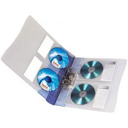 hama CD-/DVD-Hülle, DIN A4, PP, für 2 CDs, transparent
