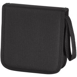 hama CD-/DVD-Tasche, Nylon, für 16 CDs/DVDs, schwarz