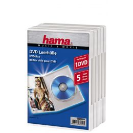 hama DVD-Leerhülle, Jewel Case, weiß