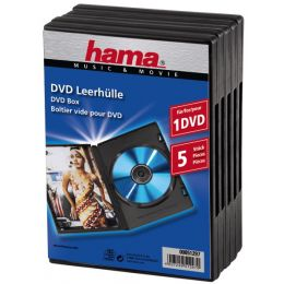 hama DVD-Leerhülle, Jewel Case, schwarz