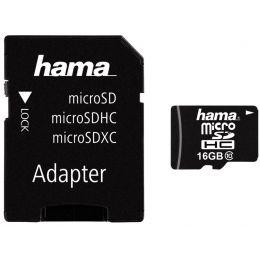 hama Speicherkarte Micro SecureDigital High Capacity, 16 GB