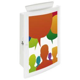 HAN Briefkasten IMAGEIN, orange-transluzent