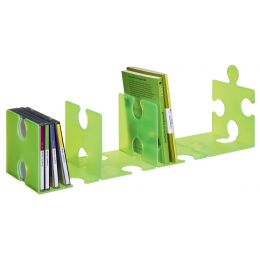 HAN Buchstütze PUZZLE, 2er Set, grün-transluzent