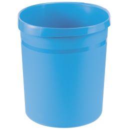 HAN Papierkorb GRIP Trend Colour, 18 Liter, rund, hellblau