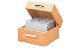 HAN Stützplatte für Holz-Karteikästen und -tröge A7 quer