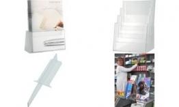 helit Fachteiler für Tischprospekthalter H23524, glasklar