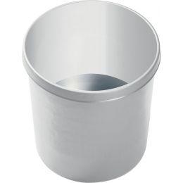 helit Papierkorb, flammhemmend, 18 Liter, hellgrau