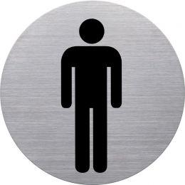 helit Piktogramm WC-Herren, Durchmesser: 115 mm, silber