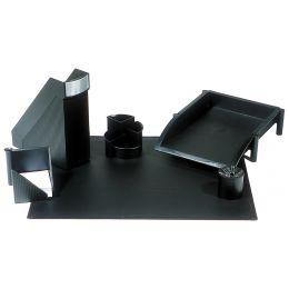 helit Schreibtisch-Set Linear, 6-teilig, schwarz
