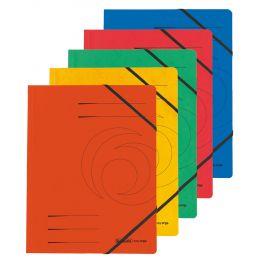 herlitz Eckspanner easyorga, A4, Colorspan-Karton, gelb