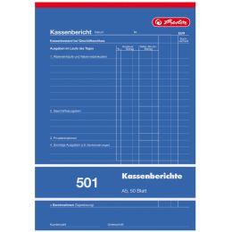 herlitz Formularbuch Kassenbericht 501 DIN A5, 50 Blatt
