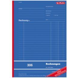 herlitz Formularbuch Rechnung 304, DIN A5, 2 x 50 Blatt
