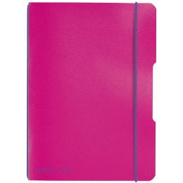 herlitz Notizheft my.book flex, A5, PP-Cover, pink