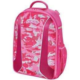 herlitz Schulrucksack be.bag AIRGO Camouflage pink