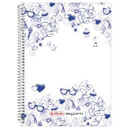 herlitz Spiralbuch my.notes, DIN A6, 100 Blatt, kariert