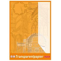 herlitz Transparentpapierblock DIN A4, 65 g/qm, weiß