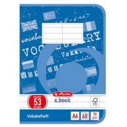 herlitz Vokabelheft x.book, DIN A6, 2-spaltig, 60 Blatt